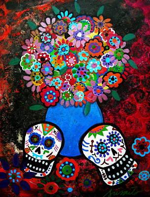 Painting - Dia De Los Muertos Blooms by Pristine Cartera Turkus