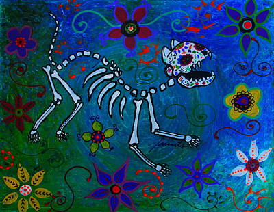 Painting - Dia De Los Muertos El Gato by Pristine Cartera Turkus