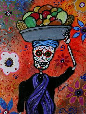 Day Of The Dead Painting - Dia De Los Muertos Fruit Vendor by Pristine Cartera Turkus