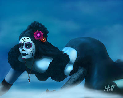 Kevin Hill Digital Art - Dia De Los Muertos - Josephine by Kevin Hill
