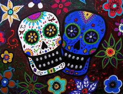 Painting - Dia De Los Muertos Lovers by Pristine Cartera Turkus