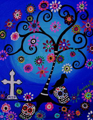 Painting - Dia De Los Muertos Rip by Pristine Cartera Turkus