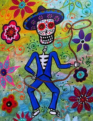 Painting - Dia De Los Muertos Vaquero by Pristine Cartera Turkus