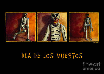 Painting - Dia De Los Muertos... by Will Bullas