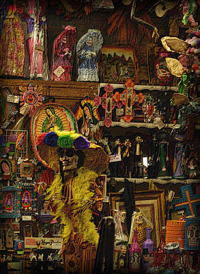 Photograph - Dia De Muertos Shop by Nadalyn Larsen