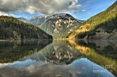 Photograph - Diablo Lake Reflections by Adam Jewell
