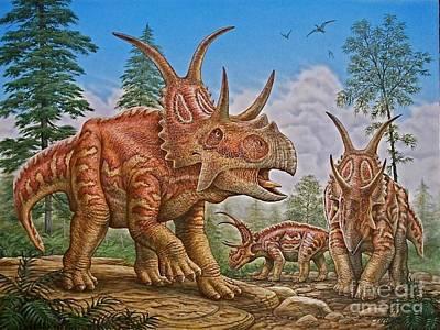 Diabloceratops Art Print by Phil Wilson