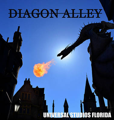 Photograph - Diagon Alley V Print 1 by David Lee Thompson
