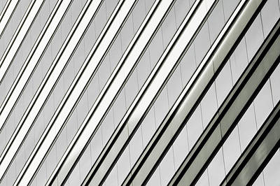 Photograph - Diagonal Lines Of A Chicago Building by Anthony Doudt