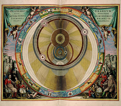 Diagram Of The Planets Art Print by British Library