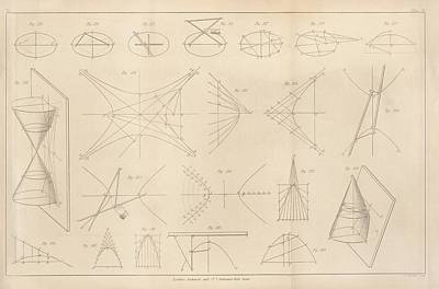 1860s Photograph - Diagrams Of Conic Sections by King's College London