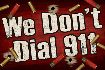 Painting - Dial 911 by JQ Licensing