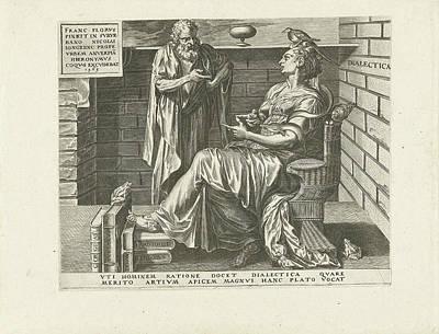 Toads Drawing - Dialectic Reasoning Art, Cornelis Cort by Cornelis Cort