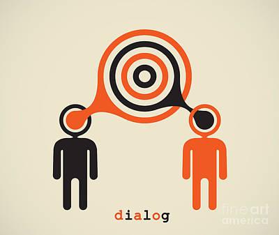 Dialog Digital Art - Dialogue by Igor Kislev