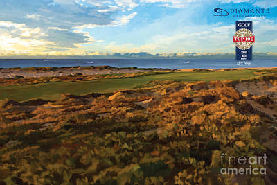 Golf Course Painting - Diamante Cabo 15th by Tim Gilliland