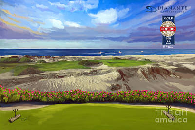 Painting - Diamante Dunes Cabo 16th by Tim Gilliland