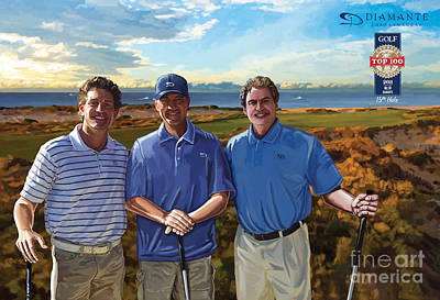 Art Print featuring the painting Diamante Golf by Tim Gilliland