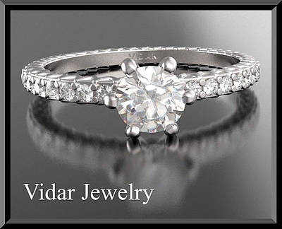 14k Jewelry - Diamond 14k White Gold Engagement Ring  by Roi Avidar