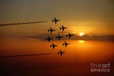 Red Tail Hawk Digital Art - Diamond 9 Sunset Pass  by J Biggadike