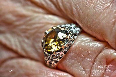 Gemstone Engagement Ring Photograph - Diamond Anyone by Crystal Harman