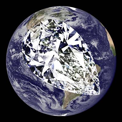 Digital Art - Diamond Earth by Ron Davidson