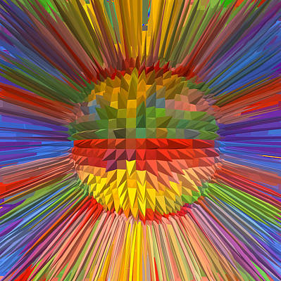 Champion Mixed Media - Diamond Energy Flower Flow Spectrum Reiki Healing Graphic Colorful Rainbow Navinjoshi Lowprice Sale  by Navin Joshi