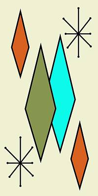 Mcm Digital Art - Diamond Gravel Art 1 by Donna Mibus