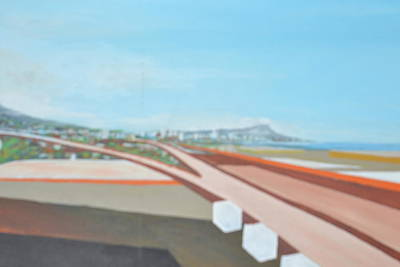 The Last Time Painting - Diamond Head From Airport by Burt Miller