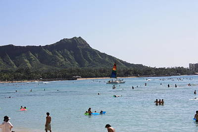 Diamond Head In The Afternoon Art Print by Adam Levine