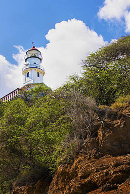 Diamond Head Lighthouse - Oahu Hawaii Art Print