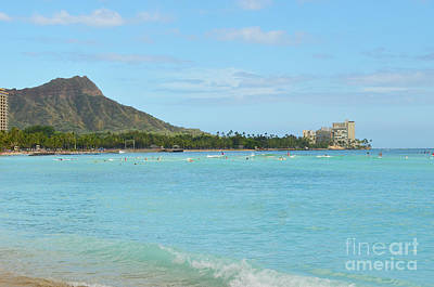Digital Art - Diamond Head Of Waikiki Oahu Hawaii by Eva Kaufman
