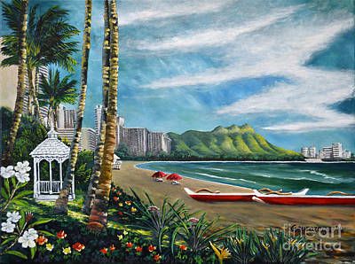 Diamond Head Waikiki Art Print