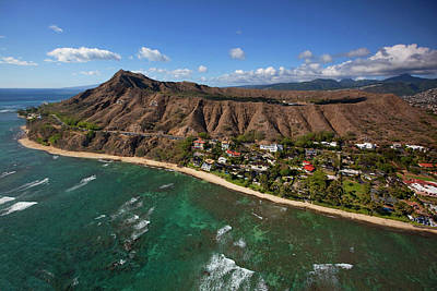 Diamond Head Photograph - Diamond Head, Waikiki, Oahu, Hawaii by Douglas Peebles