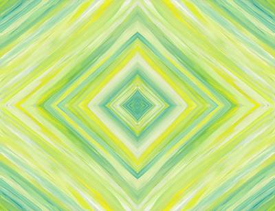Painting - Diamond In Green And Yellow by Barbara St Jean