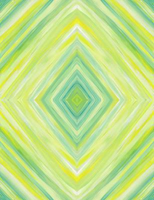 Painting - Diamond In Green And Yellow Vertical by Barbara St Jean