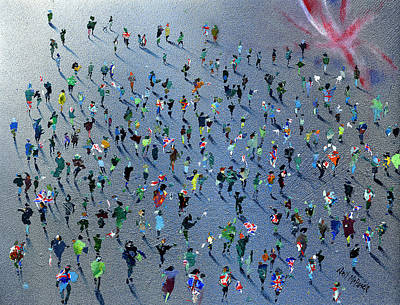 Crowd Painting - Diamond Jubilee Celebrations by Neil McBride