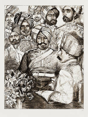 Jubilee Drawing - Diamond Jubilee Visitors, Uk, 1897 Officers Of The Imperial by Litz Collection