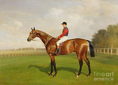 Race Horse Painting - Diamond Jubilee Winner Of The 1900 Derby by Emil Adam