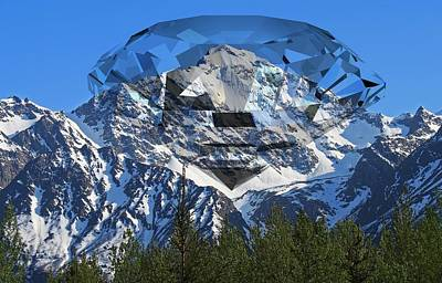Digital Art - Diamond Mountain by Ron Davidson