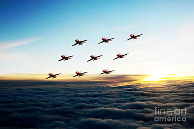 Red Tail Hawk Digital Art - Diamond Nine  by J Biggadike