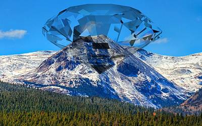 Digital Art - Diamond Peak by Ron Davidson