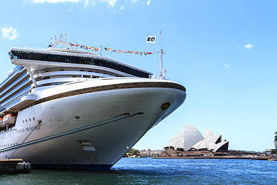 Photograph - Diamond Princess In Sydney Harbour by Silken Photography
