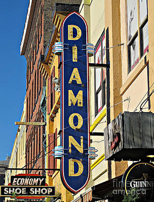 Photograph - Diamond Sign by Ethna Gillespie