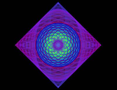 Digital Art - Diamond Swirl by Sandy Keeton