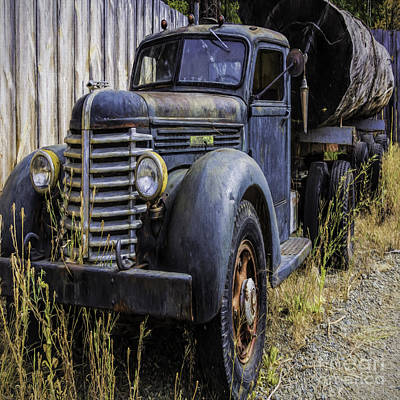 Photograph - Diamond T Logging Truck by Jean OKeeffe Macro Abundance Art