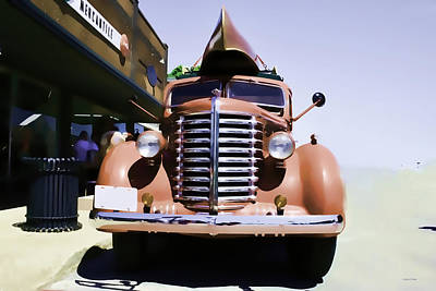 Photograph - Diamond T Truck - Sahara by Lesa Fine