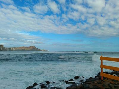 Diamondhead And A Yellow Fence Art Print