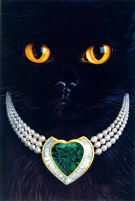 Elegant Cat Photograph - Diamonds Are A Cats Best Friend by Andrew Farley