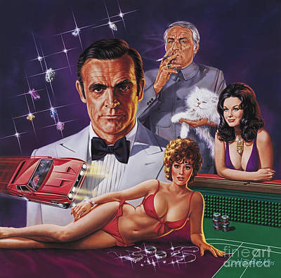 Painting - Diamonds Are Forever by Dick Bobnick