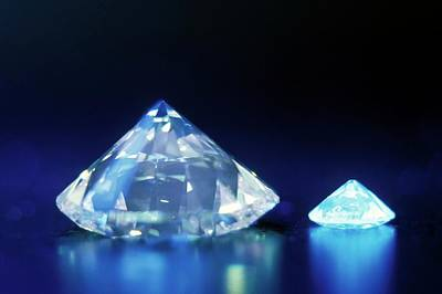 Diamonds Under Uv Light Art Print by Patrick Landmann